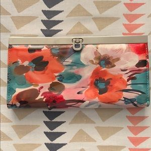 New Vinyl Glossy Floral Wallet